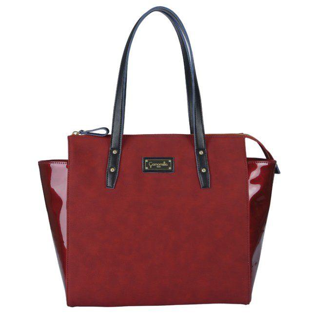červená kabelka shopper