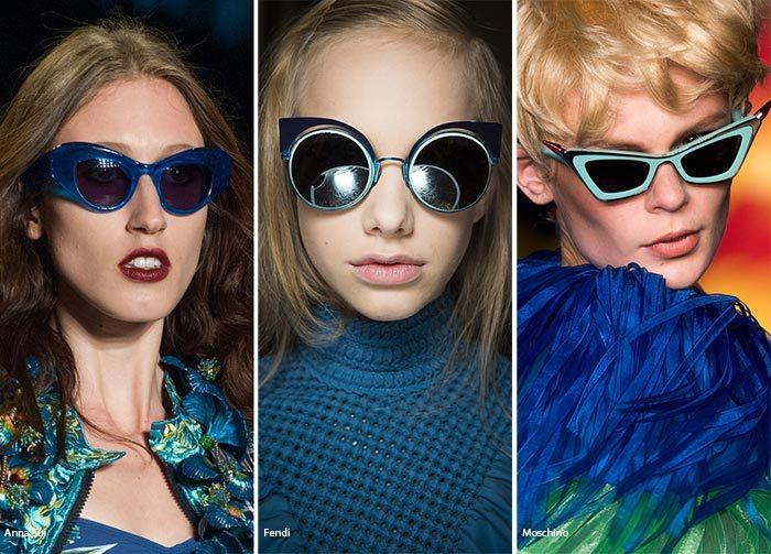 Modré brýle dámské sluneční