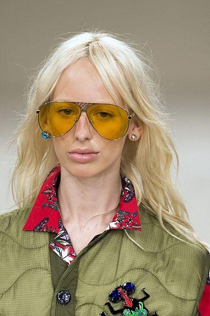 Adámské aviatorky se žlutými skly