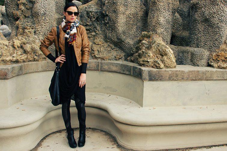české blogerky legíny s kabátem