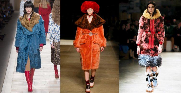 mnohabarevné kožešiny trendy