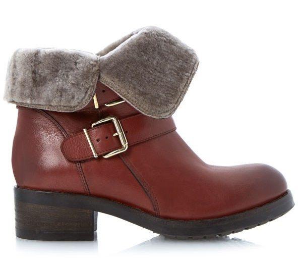 Kotníkové zimní boty s kožíškem