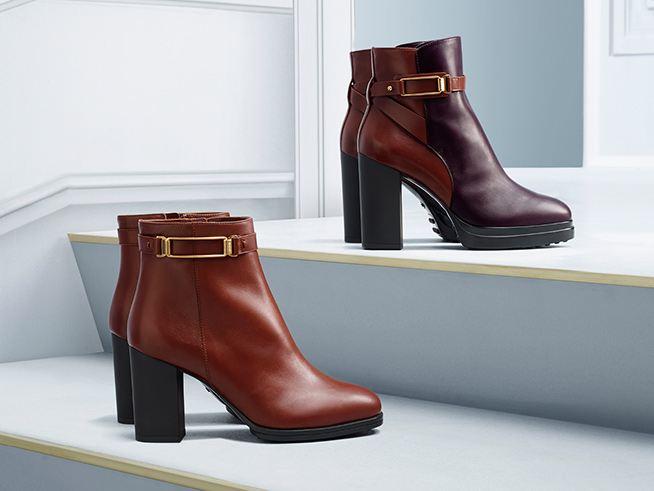 Polokozačky široký podpatek moderní boty podzim zima 2014 2015