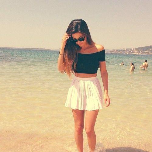 crop top a circle skirt, módní trendy pro léto 2014