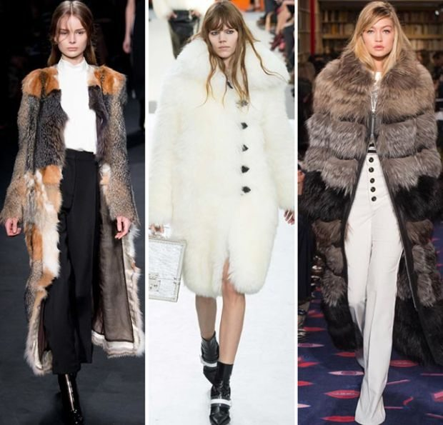 dámské kabáty imitace kožešiny