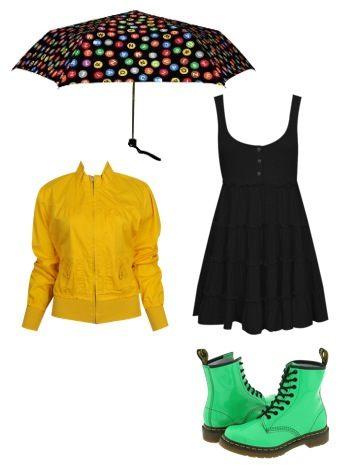 Stylové sladěné oblečení do deště