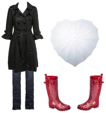 Stylové sladěné oblečení do deště a outfity do plískanic