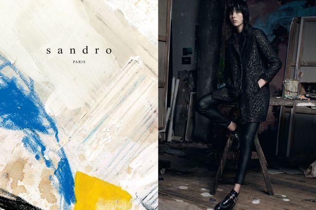 Módní kampaň Sandro podzim a zima 2014 a 2015