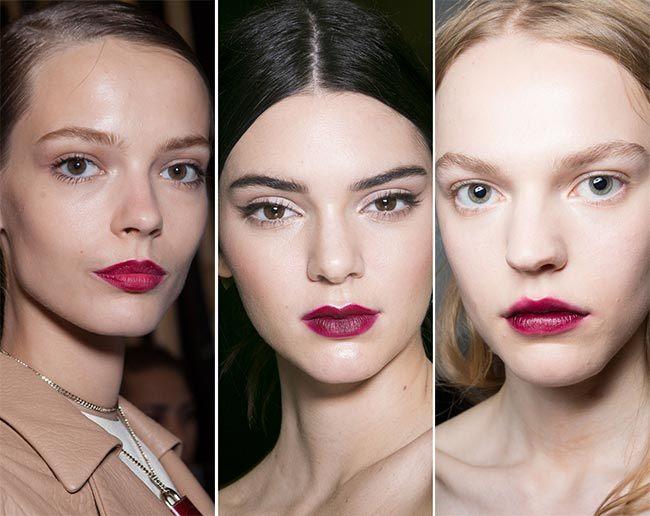 Trendy make-up pro jaro/léto 2015 aneb tmavě vínové odstíny rtěnky