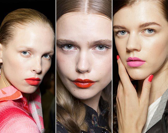 Trendy make-up pro jaro/léto 2015 aneb ružovo-oranžové odstíny rtěnky