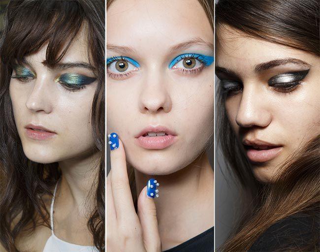 Trendy make-up pro jaro/léto 2015: Modré líčení očí