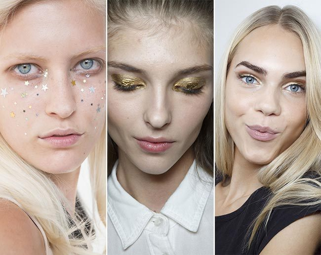 Třpytivý trendy make-up jaro/léto 2015