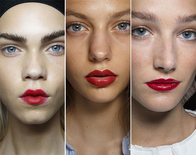 Trendy make-up pro jaro/léto 2015 aneb rudá rtěnka