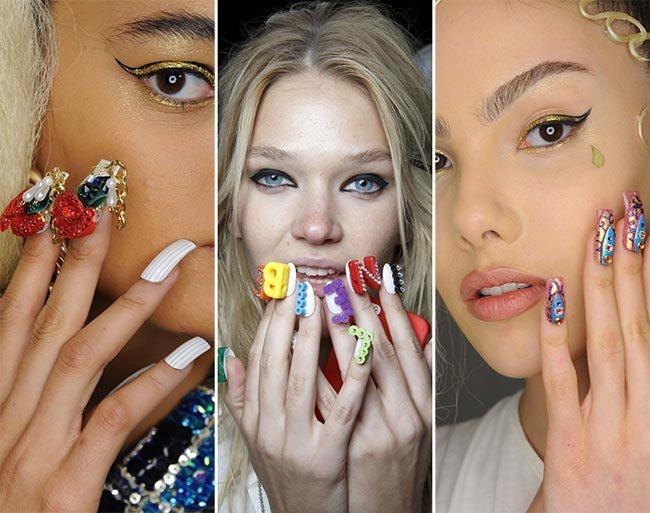 Trendy manikura jaro léto 2015: Zdobené nehty