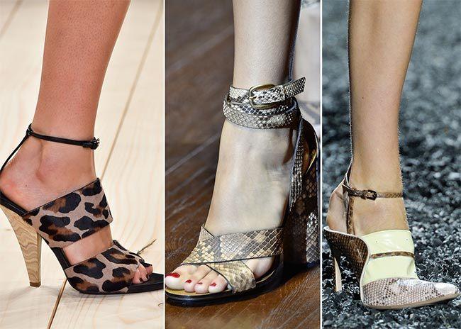 boty se zvířecími vzory jaro 2015