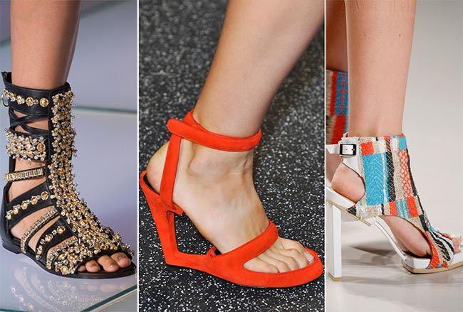 Trendy obuv jaro léto 2015 propracované vzory