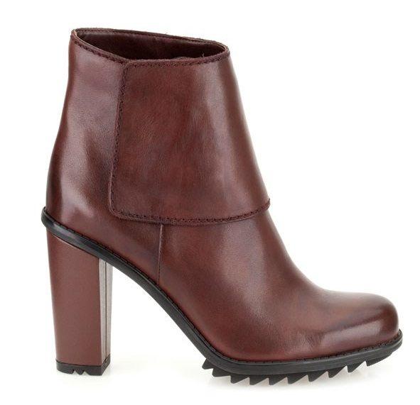 Kožené kotníkové zimní boty