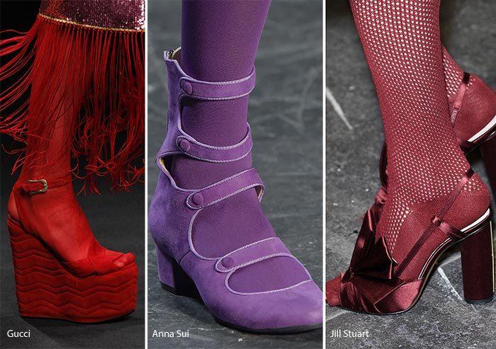 terndy barvy boty dámské 2017