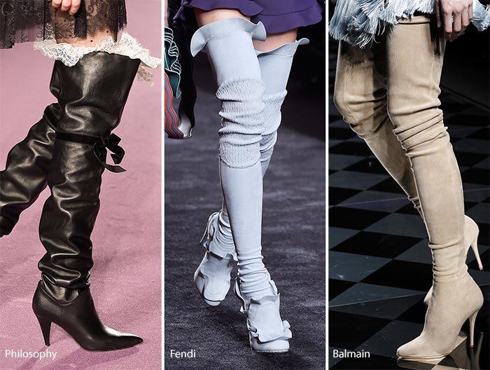 kozačky nad kolena trendy