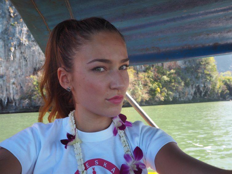 Andrea Bezděková selfie