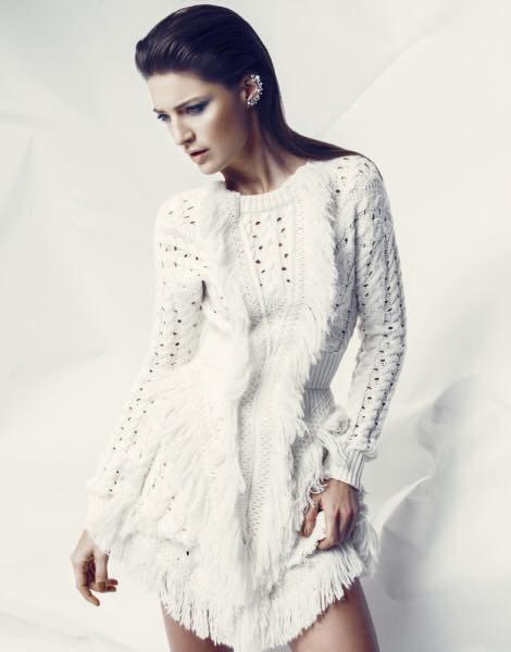 Sněhově bílý dámský model