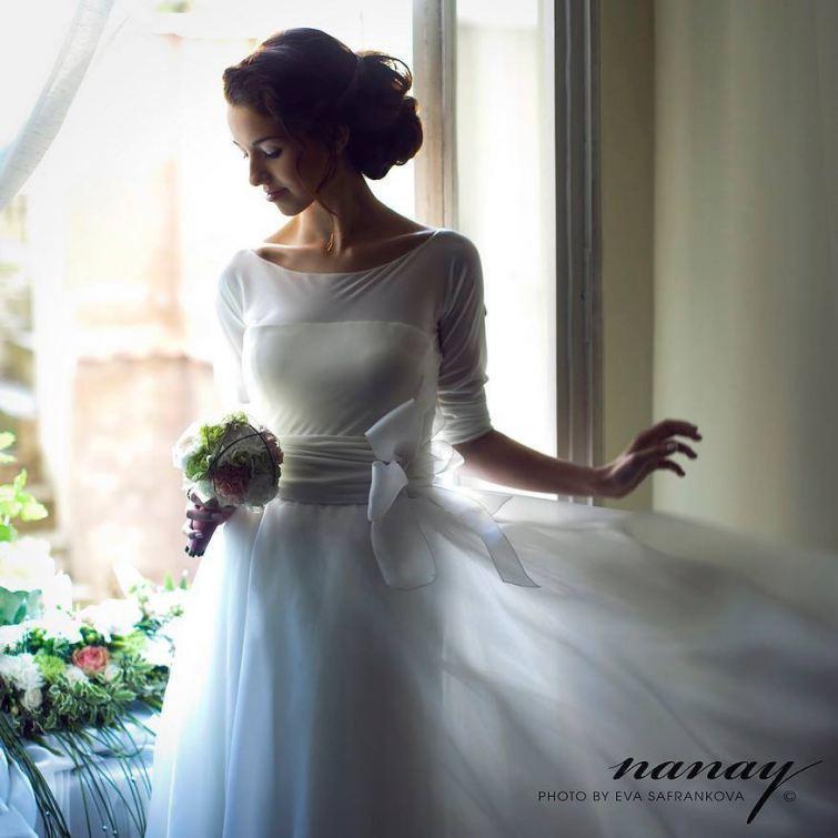 Něžné svatební šaty