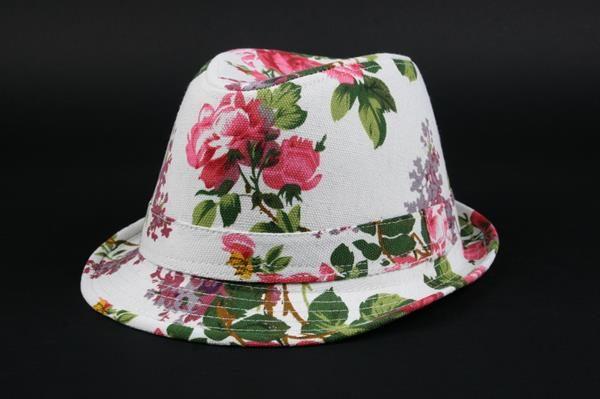 Květinový klobouk na jaro