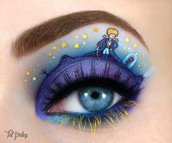 Make-upový obrázek - Malý princ