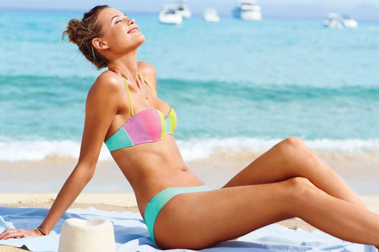 Proužkované plavky Victoria's Secret