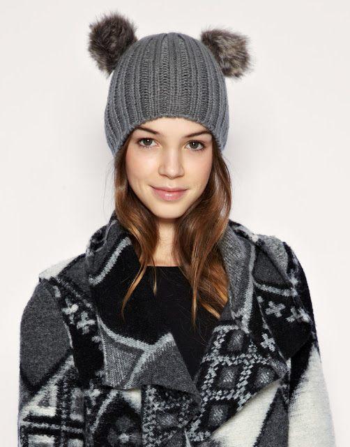 Zimní čepice se zvířecími oušky