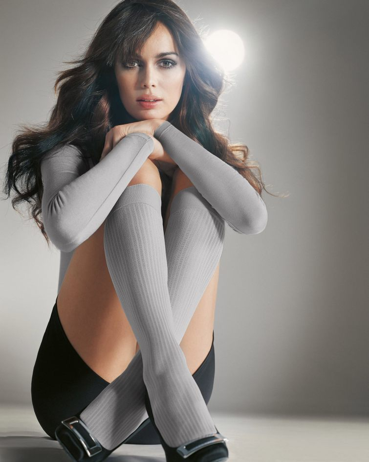 Elegantní šedé ponožky v balerínkách