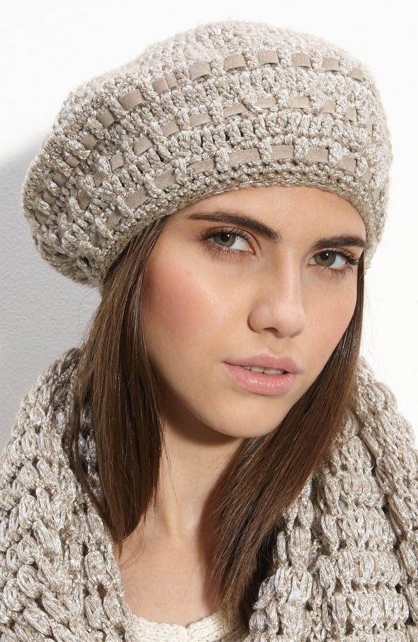 Pletený baret na zimu