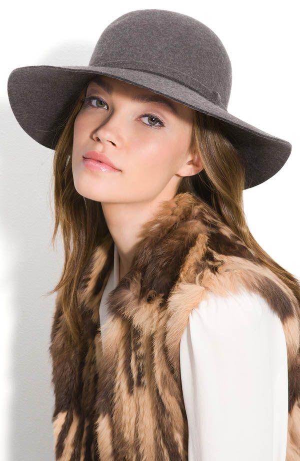 dámský klobouk šedý