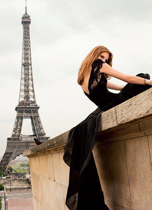Černé okouzlující šaty,