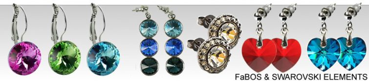 Krásné náušnice s kamínky - FaBOS