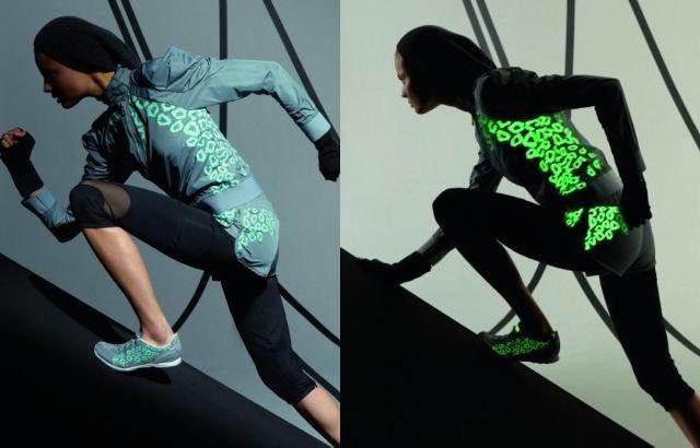 Reflexní mikina capri kalhoty Nike