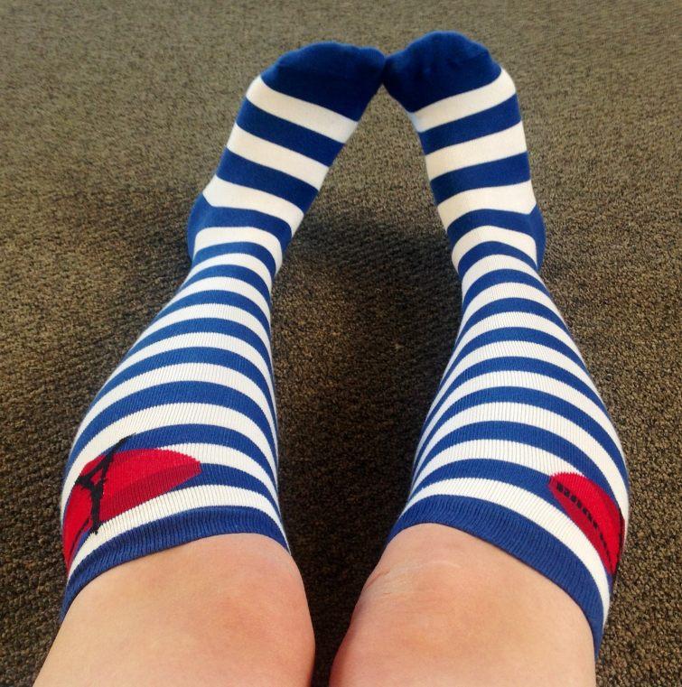 Stylové proužkované ponožky