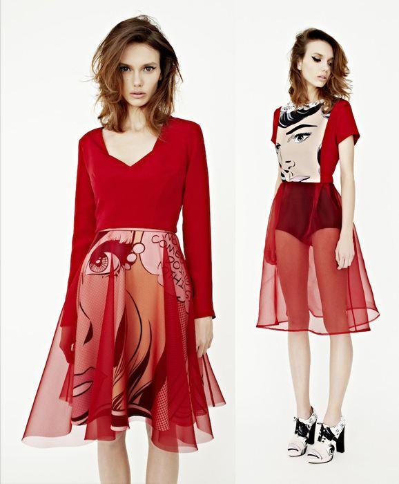 Červené komiksové šaty