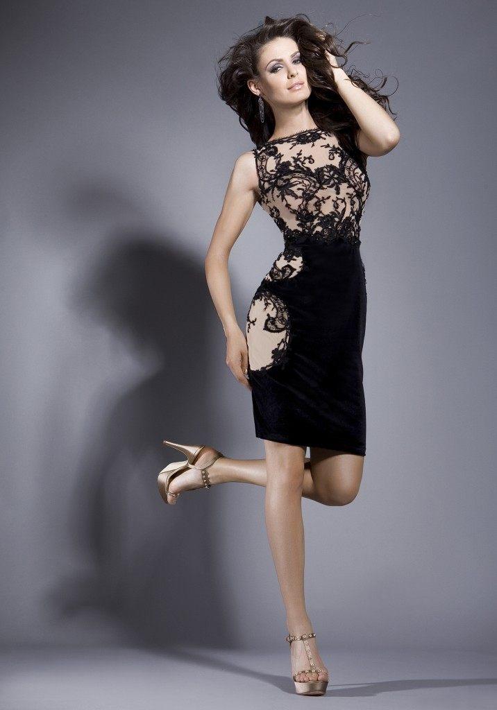 krajkové koktejlové šaty