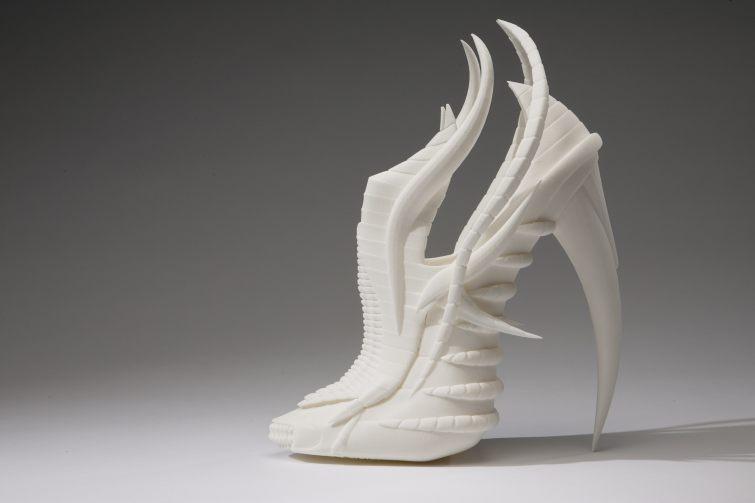 3D moderní dámské boty na podpatku