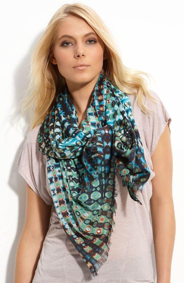 Vzorovaný šátek na léto