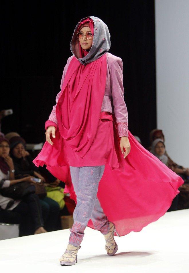 orientální móda růžová muslimka