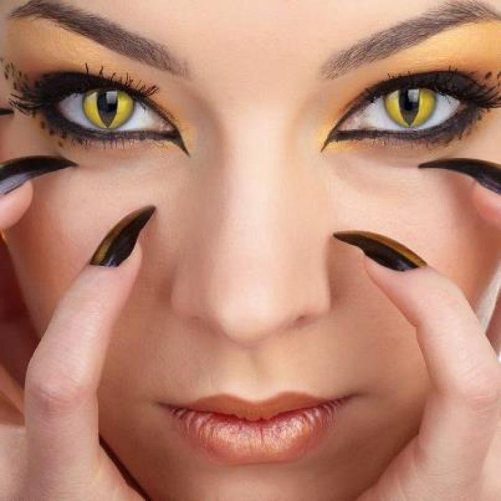 Kočičí oči kontaktní čočky