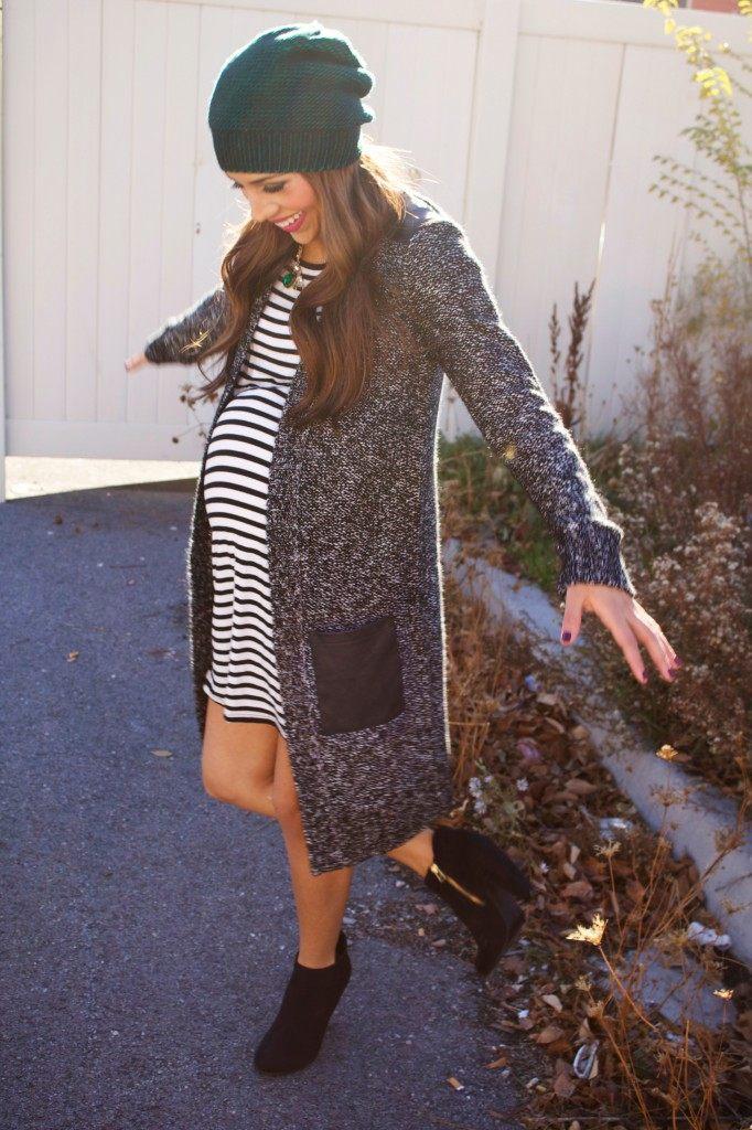 móda pro těhotné kabát