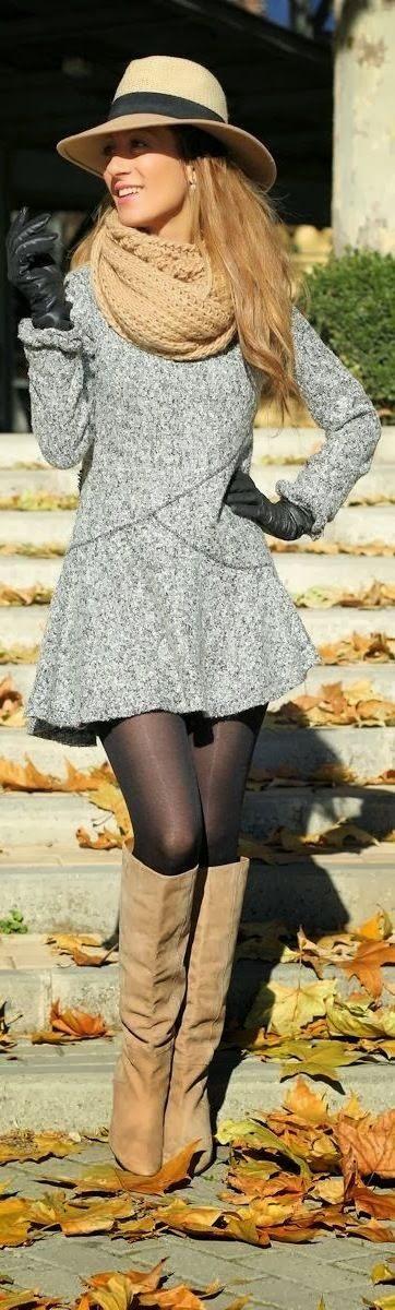 Šaty zimní s kloboukem