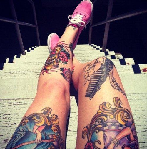 Tetování na nohou