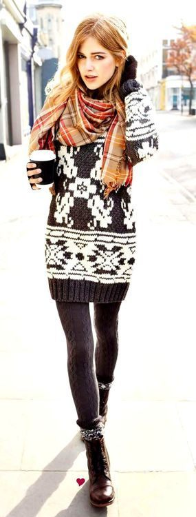 pletené šaty na podzim
