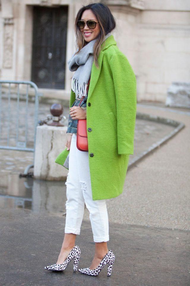 barva roku zelená kabát