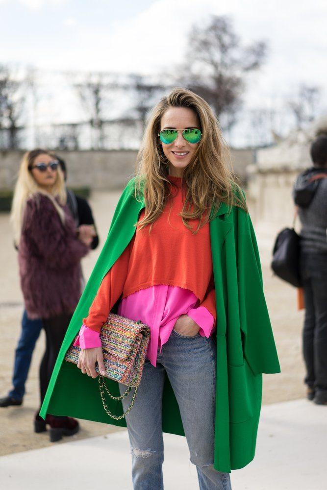 kabátek zelený top barva 2017