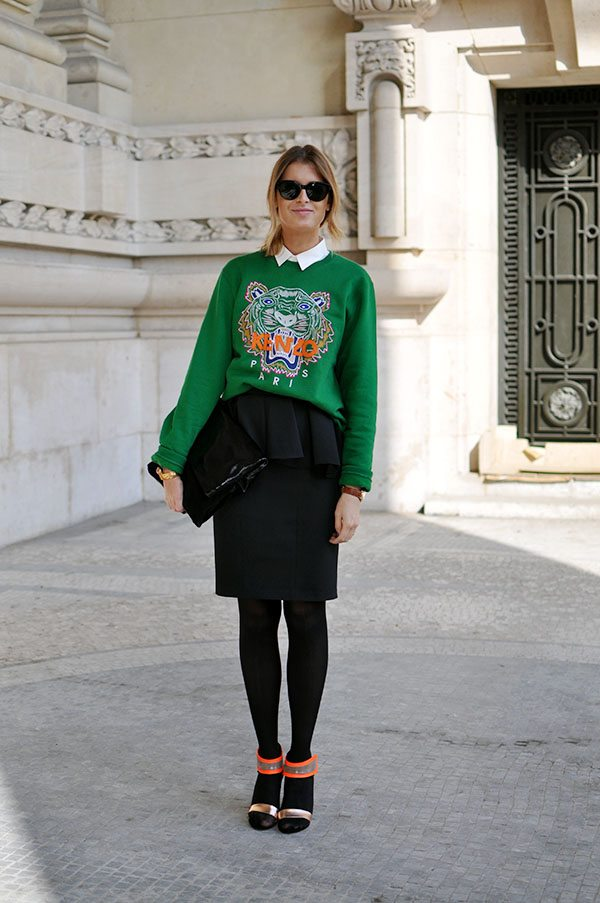 2017 greenery svetr s potiskem